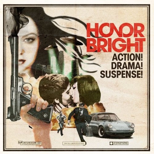 Honor Bright's movie poster/album cover for Action! Drama! Suspense!