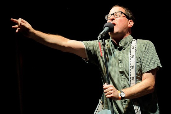 CRAIG FINN WITH THE HOLD STEADY AT LOUFEST THIS YEAR. PHOTO BY TODD OWYOUNG.