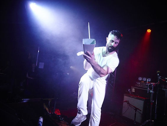 Who doesn't need more cowbell? Bear Hive as LCD Soundsystem. See more photos here. - STEVE TRUESDELL