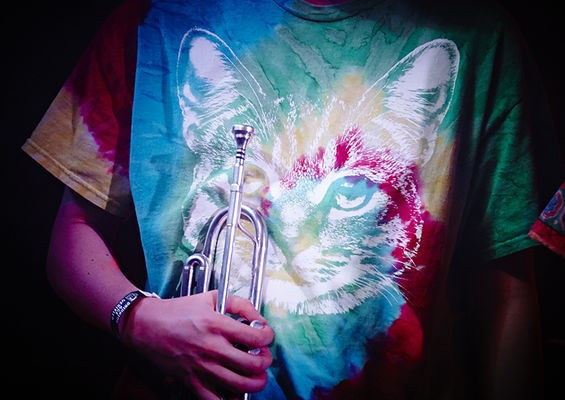 Everybody needs a tie-dyed cat shirt. Al Holliday & the East Side Rhythm Band as Joe Cocker. See more photos here. - STEVE TRUESDELL
