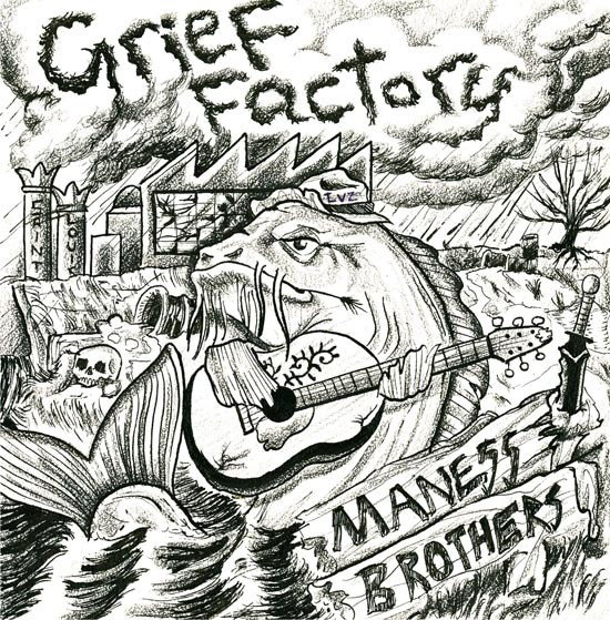 The cover of Grief Factory. - PROVIDED BY MANESS BROTHERS.