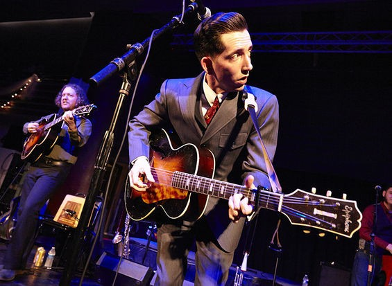 Pokey LaFarge, performing at the Casa Loma Ballroom in December 2013. - STEVE TRUESDELL
