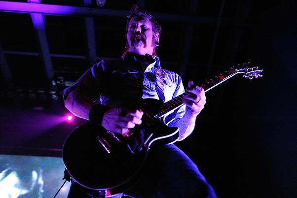Mastodon's Bill Kelliher, October 13, 2009 at the Pageant. More photos here. - TODD OWYOUNG