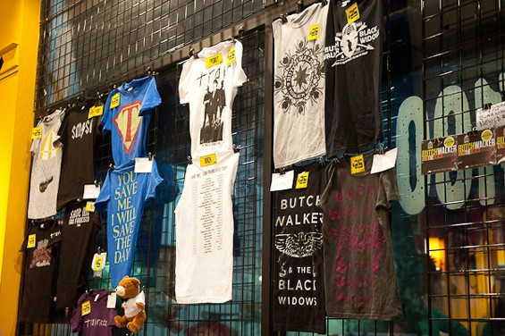 Butch Walker merch last night at Suite 100, adjacent to the Pageant. - PHOTO: TODD OWYOUNG