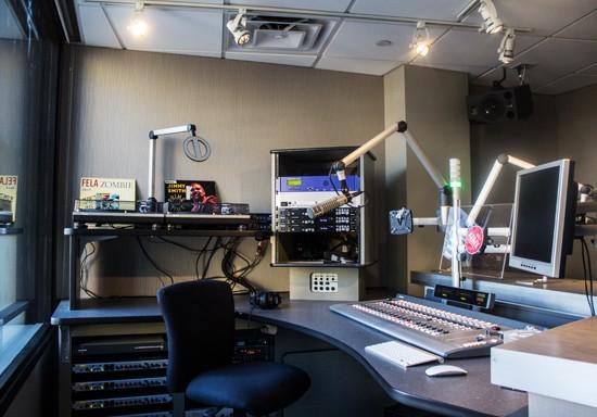 KDHX's brand-spankin'-new air room. - MABEL SUEN