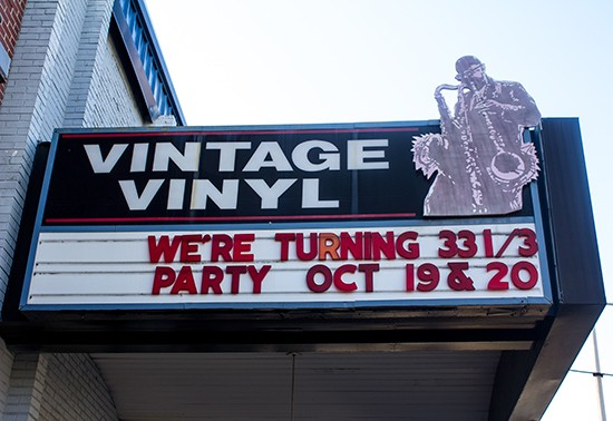 Vintage Vinyl celebrates its 33 1/3 anniversary this weekend. - MABEL SUEN