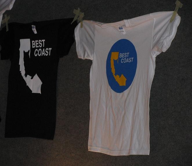 Best Coast's tshirts. Yes, that's Snacks the cat. - ANNIE ZALESKI