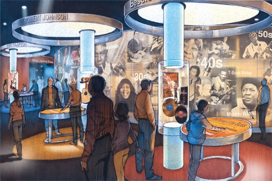 An artist rendering of the National Blues Museum - COURTESY OF THE NATIONAL BLUES MUSEUM