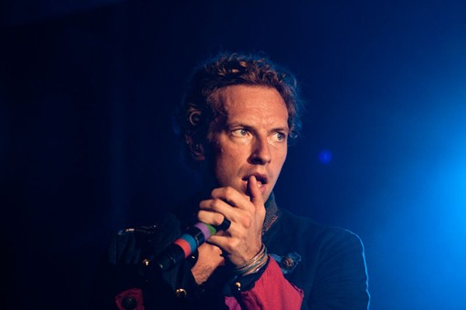 Chris Martin of Coldplay last night. See more photos. - PHOTO: KENNY WILLIAMSON