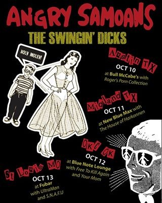 The Angry Samoans' tour flyer