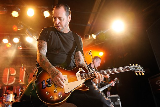Mike Ness of Social Distortion. See more Social Distortion concert photos from last night. - PHOTO: TODD OWYOUNG