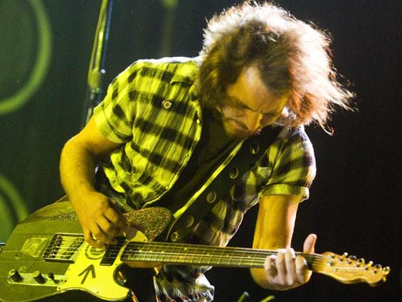 Eddie Vedder. See a full slideshow from Pearl Jam's Scottrade Center show here. - PHOTO: JON GITCHOFF