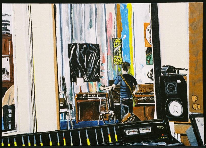 Jason Rook at Radio Penny, painting by Dana Smith