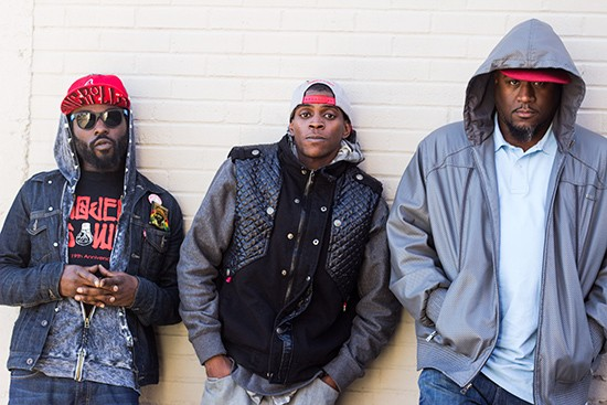Jah Orah and KD Assassin with producer Stephen King aka InStrumentaLz.