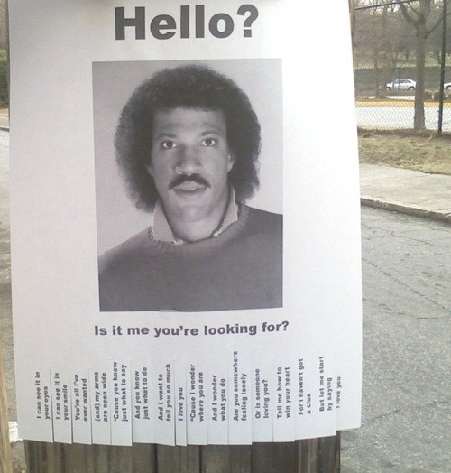 Lionel Richie Missing Person Poster Internet Win – Missing Person Poster