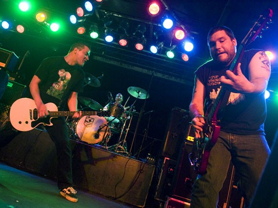 Teenage Bottlerocket on the Pop's stage on Saturday night. See a full slideshow of the NOFX show at Pop's. - PHOTO: JON GITCHOFF