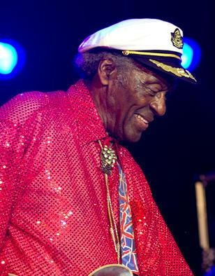 Chuck Berry at Kiener Plaza on July 29, 2010 - ERIN KINSELLA
