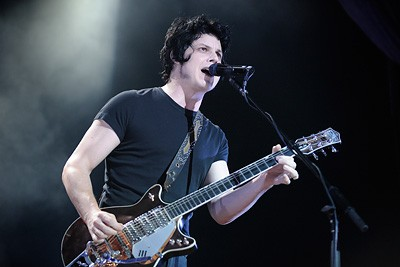 Jack White playing with the Raconteurs at the Pageant in 2008 - TODD OWYOUNG