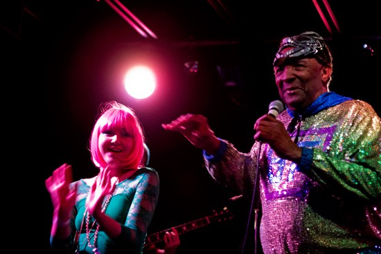 Blowfly unmasked with Blyre Cpanx, some of St. Louis' local talent. - MABEL SUEN