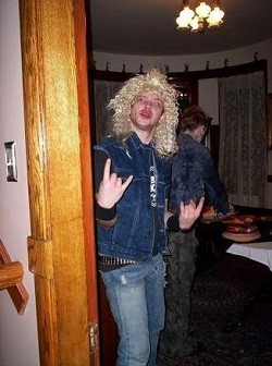 Speaking of, this is me, on Halloween a few years back, dressed as Mustaine.