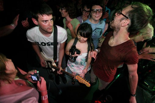 Los Campesinos! From last night's show at the Firebird. See more photos from last night. - PHOTO: NICK SCHNELLE