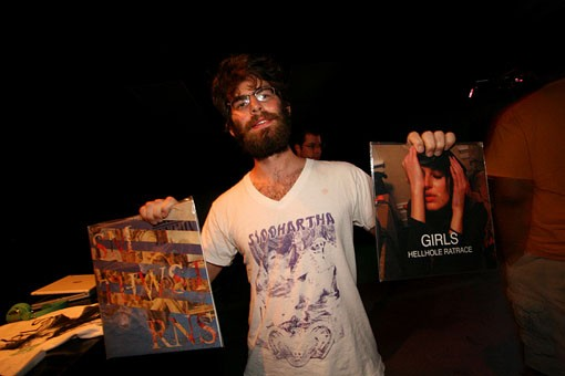 A lucky fan who bought Smith Westerns and Girls LP's. See more photos from last night at the Firebird. - PHOTO: NICK SCHNELLE