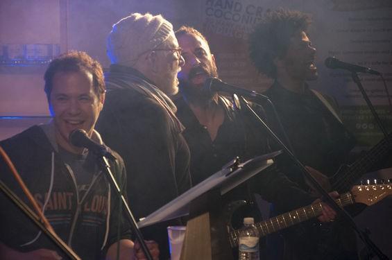 Brothers Lazaroff and friends perform at Hanukkah Hullabaloo. - MICAH USHER