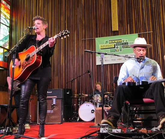 Natalie Maines and Ben Harper at SXSW - DANA PLONKA