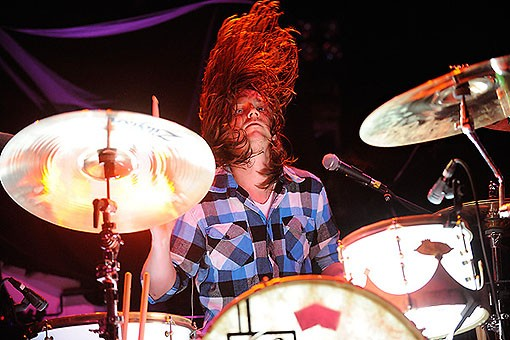We the Kings last night at the Pageant. See more photos from last night's show here. - PHOTO: TODD OWYOUNG