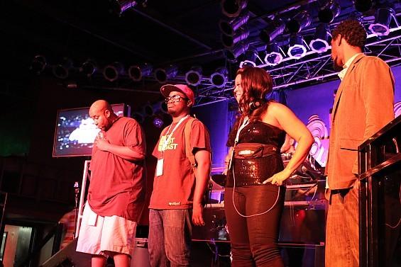 Semi-finalists and crowd favorites Tech Supreme, Nodzilla (aka DJ Needles), and Foxx Starstruckk. - DIANA BENANTI