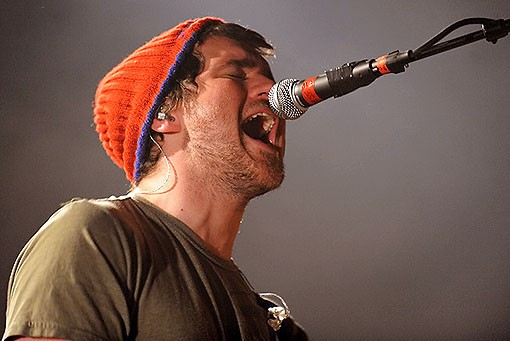 Jesse Lacey of Brand New last night at the Pageant. See more photos from last night. - PHOTO: TODD OWYOUNG
