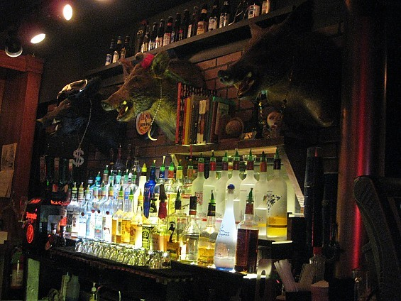 What bar would be complete without taxidermied boars sporting bling? - DIANA BENANTI