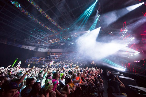 Bassnectar at Chaifetz Arena in 2012. - TODD OWYOUNG