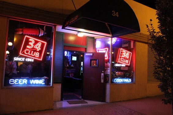 One of the oldest bars in the area, The 34 Club harkens back to the heyday of Gaslight Square. Let 'em keep their squares. - DIANA BENANTI