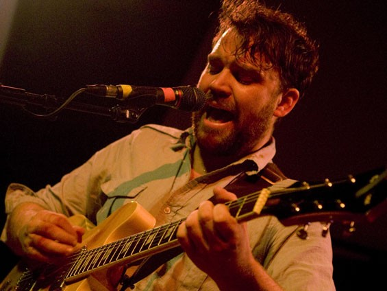 Scott Hutchison of Frightened Rabbit at the Old Rock House last night. See more Frightened Rabbit photos here. - PHOTO: JON GITCHOFF