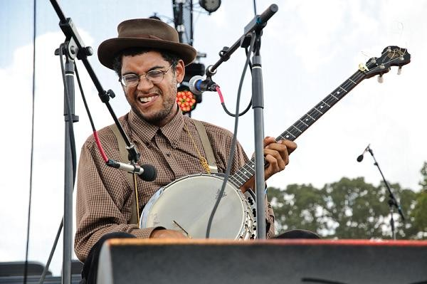 Carolina Chocolate Drops' Dom Flemons. More photos from day two here - JASON STOFF