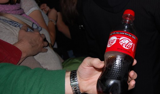 Although the Gargoyle is a dry venue, many had Coke bottles in hand.