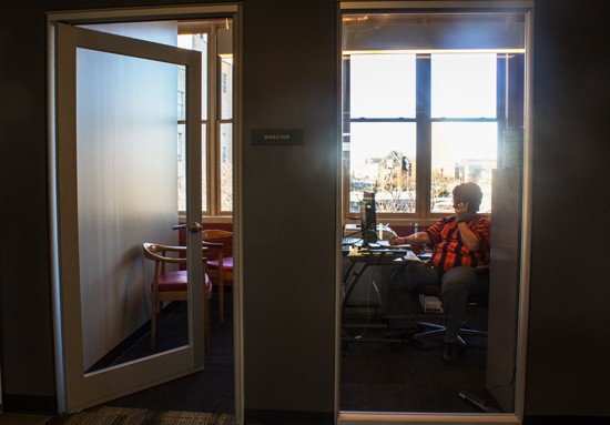 Executive director Beverly Hacker in her new office.