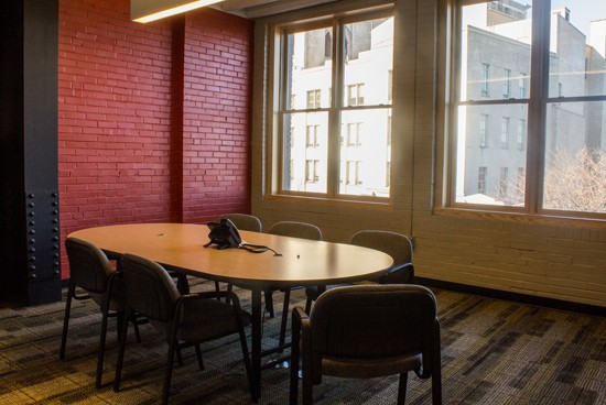 The conference room where volunteers and staff will convene.