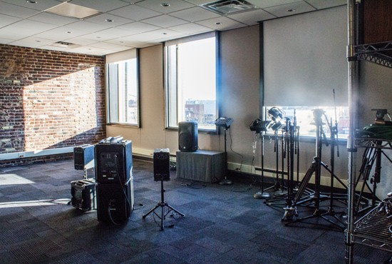 The live performance studio was designed specifically for efficient, high quality audio and video recording.