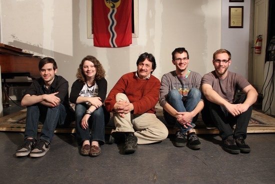 The crew with Mark Sarich at the Lemp Neighborhood Arts Center in St. Louis - BRET HOY