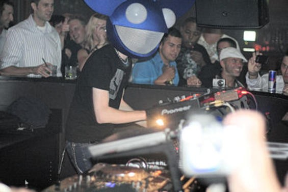 Deadmau5 at Home Nightclub, September 2008. Photo by Vikram Singh.