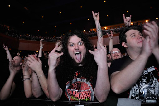 Front-row for Rob Zombie. See more photos from last night's show. - PHOTO: TODD OWYOUNG