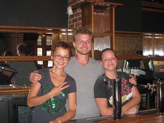 The HandleBar team: owner Tatyana Telnikova, Manager and Renaissance Man Blake LaRue, Director of Inebriation Keeley McGrew. - DIANA BENANTI