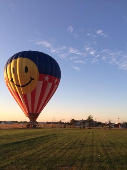 Durbin's balloon lands outside of Jettison Studios. - COURTESY OF BETH BOMBARA