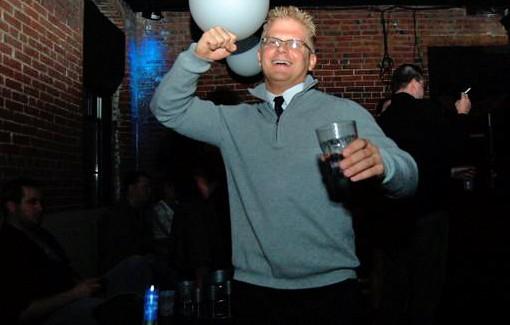 Co-promoter Jeff Bachmann on Friday night. - PHOTO: MATT BLICKENSTAFF