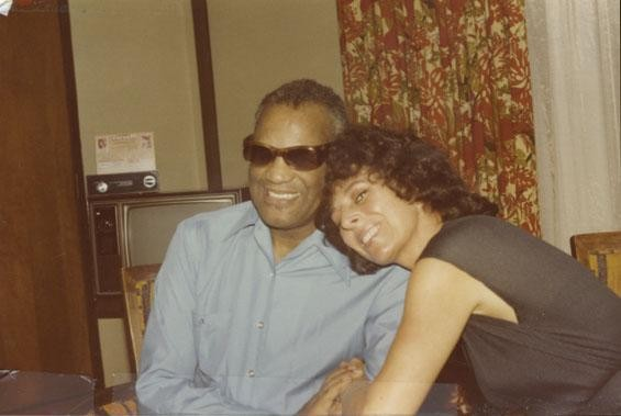 The author with Ray Charles - COURTESY OF MARCI SOTO