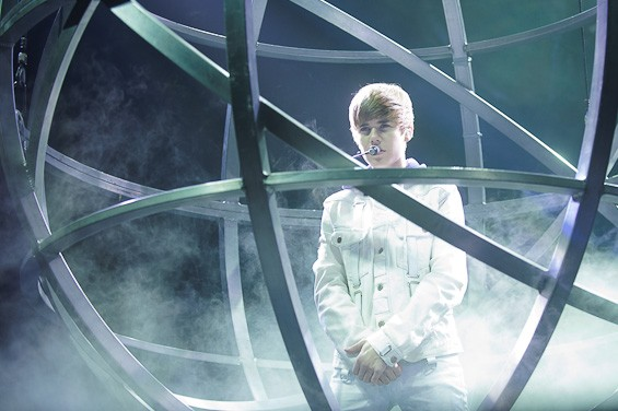 Justin Bieber at the Scottrade Center. Beam me up, Bieber! - TODD OWYOUNG