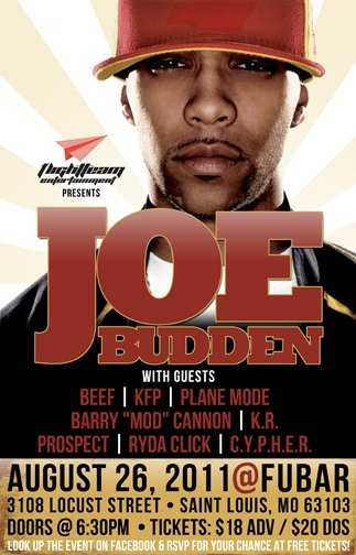 Joe Budden played an 80-minute set at Fubar last night -- his first solo effort in St. Louis.