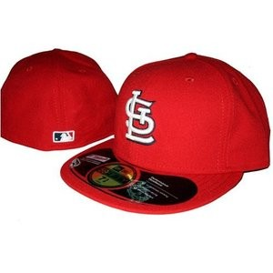A Cardinals fitted cap, a St. Louis hip-hop wardrobe staple.